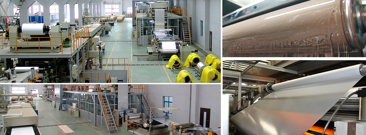 Aluminum-plastic composite board production line